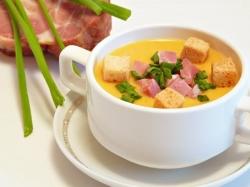 Картофельный суп-пюре с чесноком