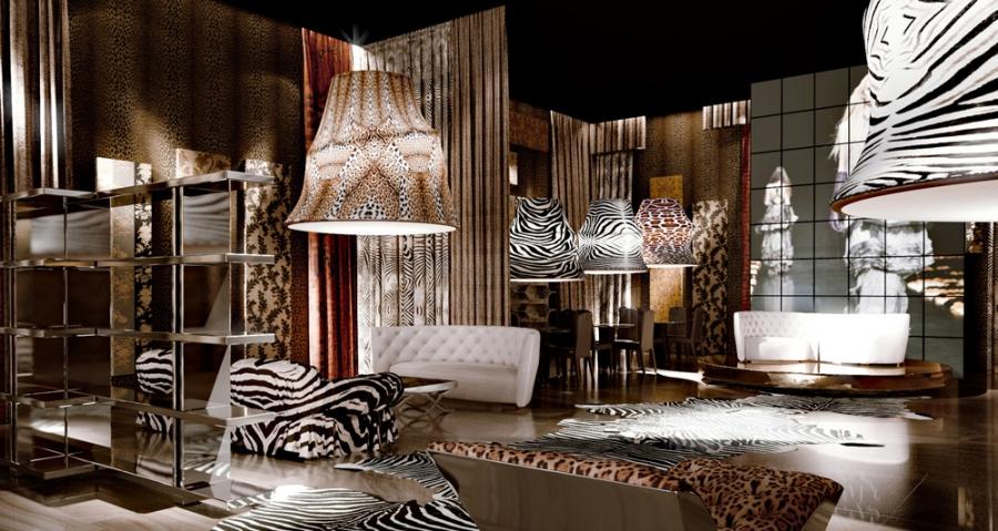 Леопардовые обои для стен фото