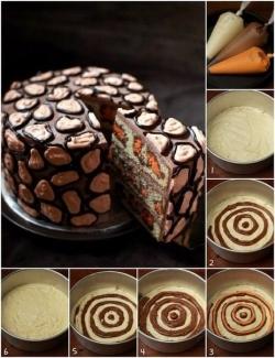 Леопардовый кекс - пошаговый рецепт с фото на Повар.ру